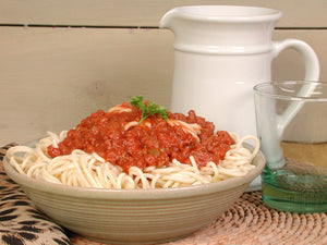 Spaghetti Bolognese with red wine