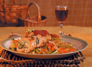 Turkey Roulade with Vegetable Julienne