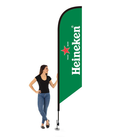 12' FEATHERED FLAG KIT W/ DOUBLE SIDED IMPRINT