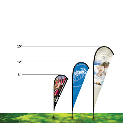 15' Teardrop Flag Kit  W/ Double Sided Imprint