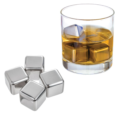 4 Pack Stainless Whiskey Ice Cubes