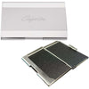 Steel Pearl Business Card Holder