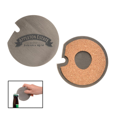 Coaster w/ Cork Base & Bottle Opener