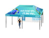 Premium Giant Tent 16'x16' w/ Full Color Canopy and Back Wall