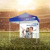 PREMIUM TENT 10'x10' W/ Full Color Canopy and Back Wall