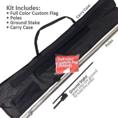 8' FEATHERED FLAG KIT W/ DOUBLE SIDED IMPRINT
