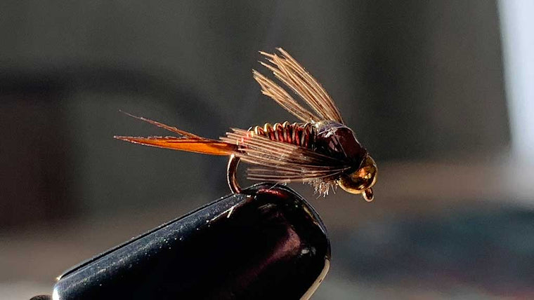 Copper John Hotwire Bead Head - Gold and Red