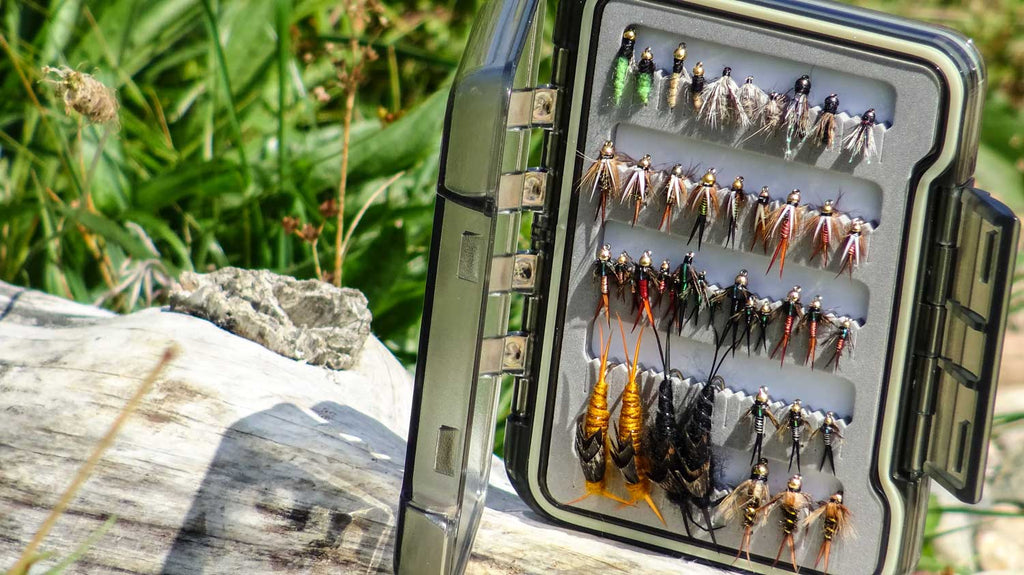 Drifthook Fly Fishing Pro Nymph Fly Box with Beautiful Colorful Flies