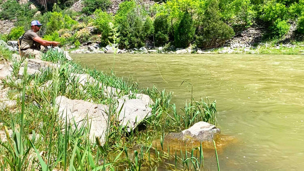 Fly Fisherman in the Black Canyon on the Gunnison River