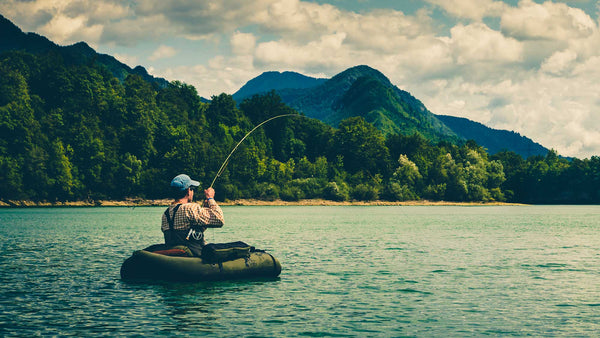 Fly Fishing from Belly Boat