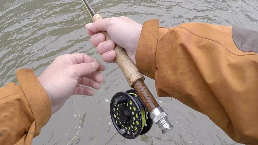 Slow Hand Retrieve Fly Fishing on a Lake