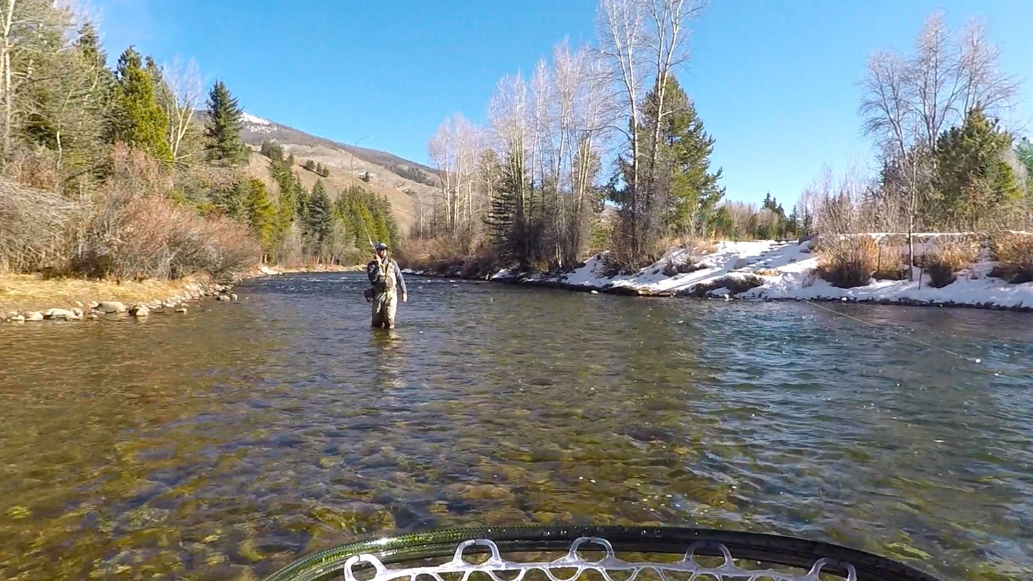 Fly Fishing on River