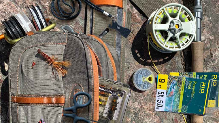 On the Go Fly Fishing Kit - 9 Tools to Get you on the water faster