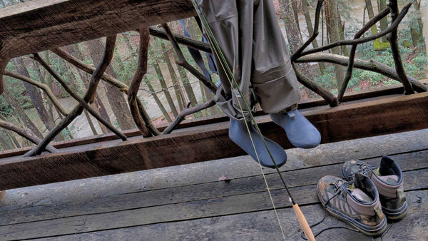 Stocking Foot Waders on Rail