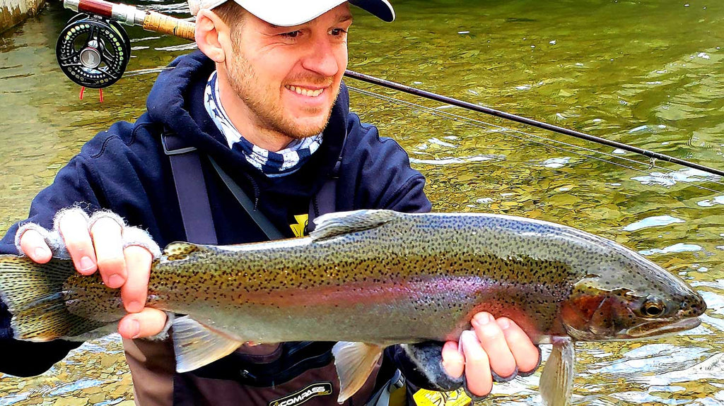 Tom Doshoff Catching Monster Rainbow in PA