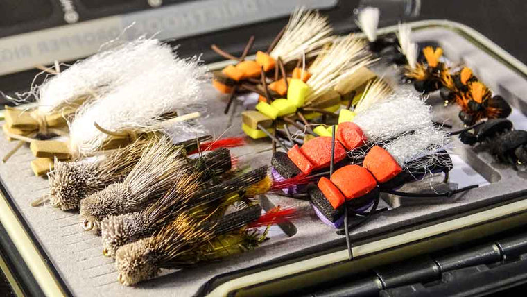 Box of Fly Fishing Flies called Hoppers