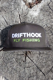 Drifthook Snapback Flat Bill Hat—Gray with Puff Logo - Drifthook
