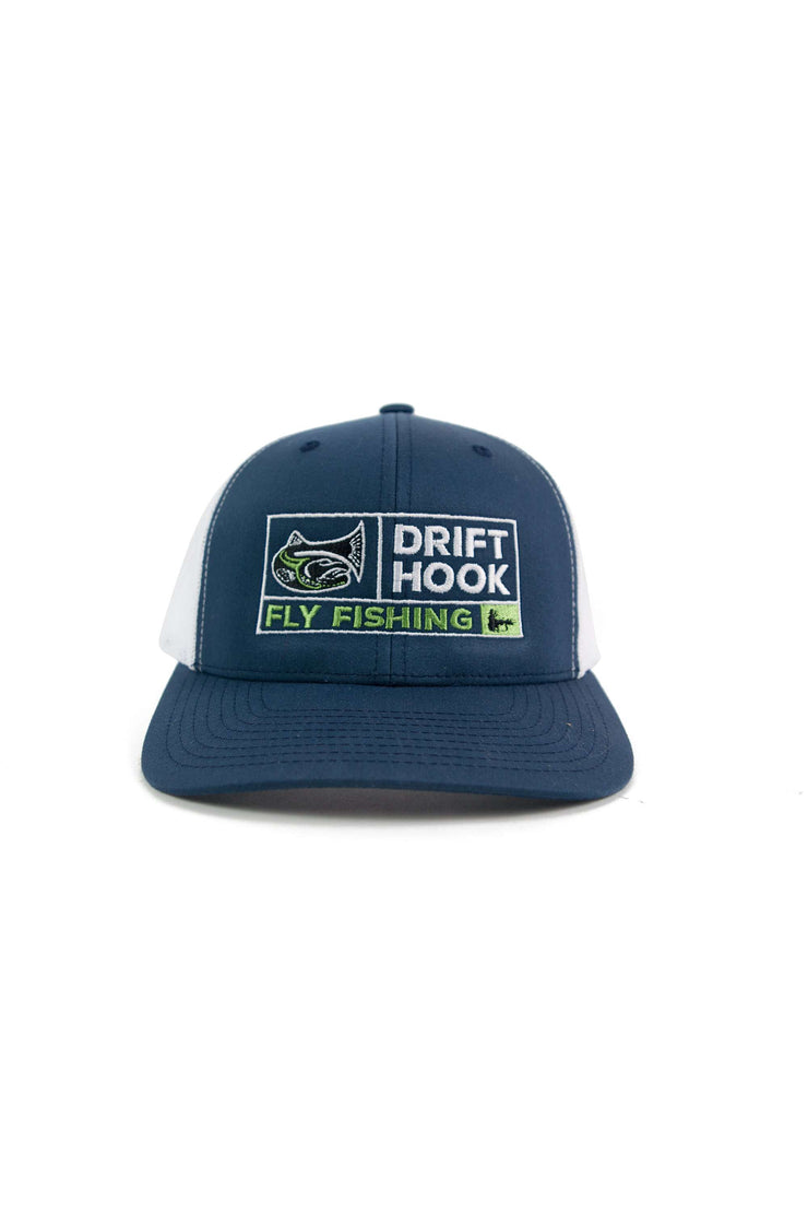 Drifthook Trucker Cap—Blue with Box Logo