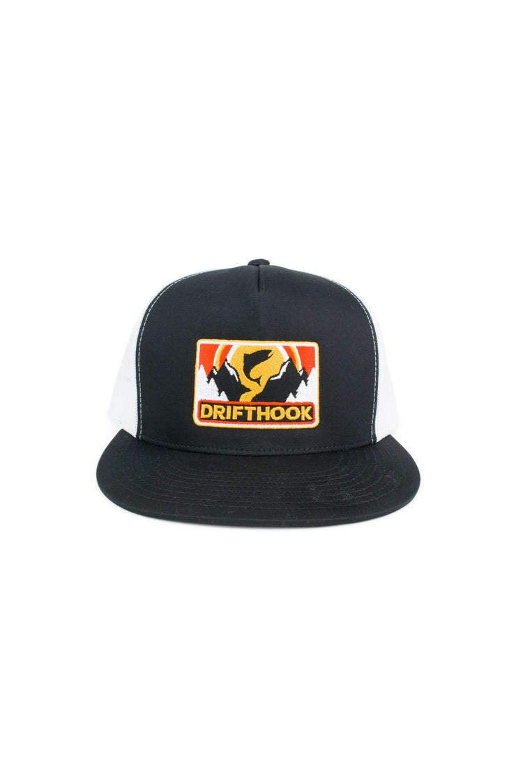 Drifthook Snapback Flat Bill Hat—Mountain Sunset - Drifthook