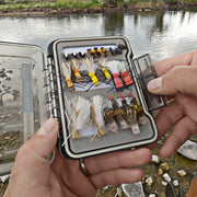 Dropper Rigs Fly Fishing Kit | 49 Hopper & Stimulator Flies with Box & Guides - Drifthook