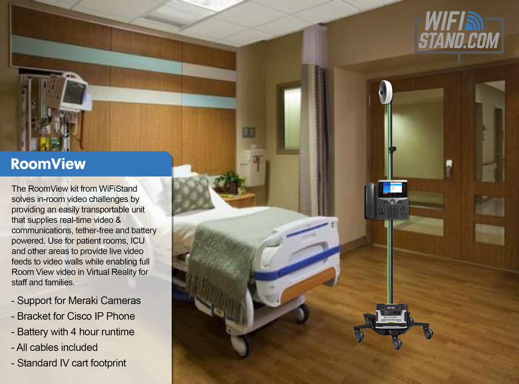 RoomView Kit for Healthcare Patient Monitoring & Communication