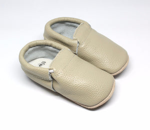 Dusk Fringeless Rubber Bottom Leather Moccasins | Baby Shoes