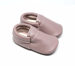 Argyle Fringeless Leather Moccasins | Baby Shoes