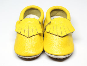 SunGlow Rubber Bottom Leather Moccasins | Baby Shoes