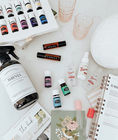 Young Living premium starter kit with lustre diffuser, thieves