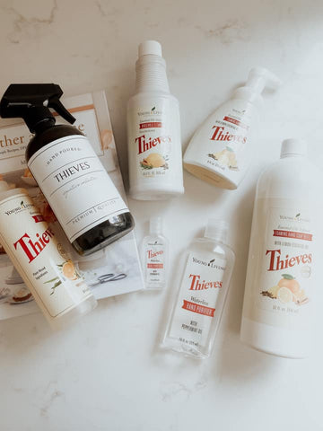 Thieves essential oil infused cleaning products