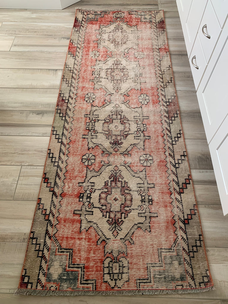 Vintage Rug - Runner - Red Multi #2