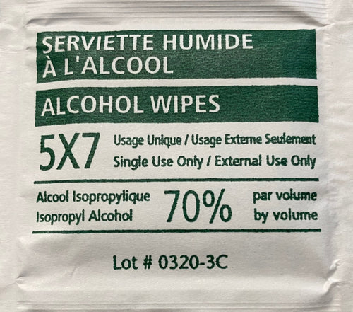 PPE-PA-MOIST-TOWEL - Single Use Alcohol Wipe  (10pk) - HD Source