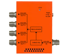 Load image into Gallery viewer, Multidyne NBX-DA-1X4-12G 12G-SDI 1x4 Distribution Amplifier - HD Source