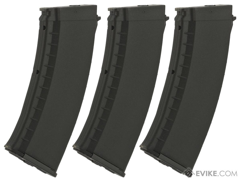 KWA AKR-74M 120rd ERG Magazines for KWA Airsoft Electric Recoil Rifles (Qty: 3 Pack / Black) - Eminent Paintball And Airsoft