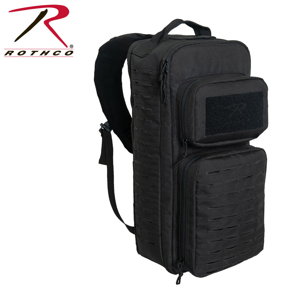 Rothco Tactical Single Sling Pack With Laser Cut MOLLE - Black - Eminent Paintball And Airsoft