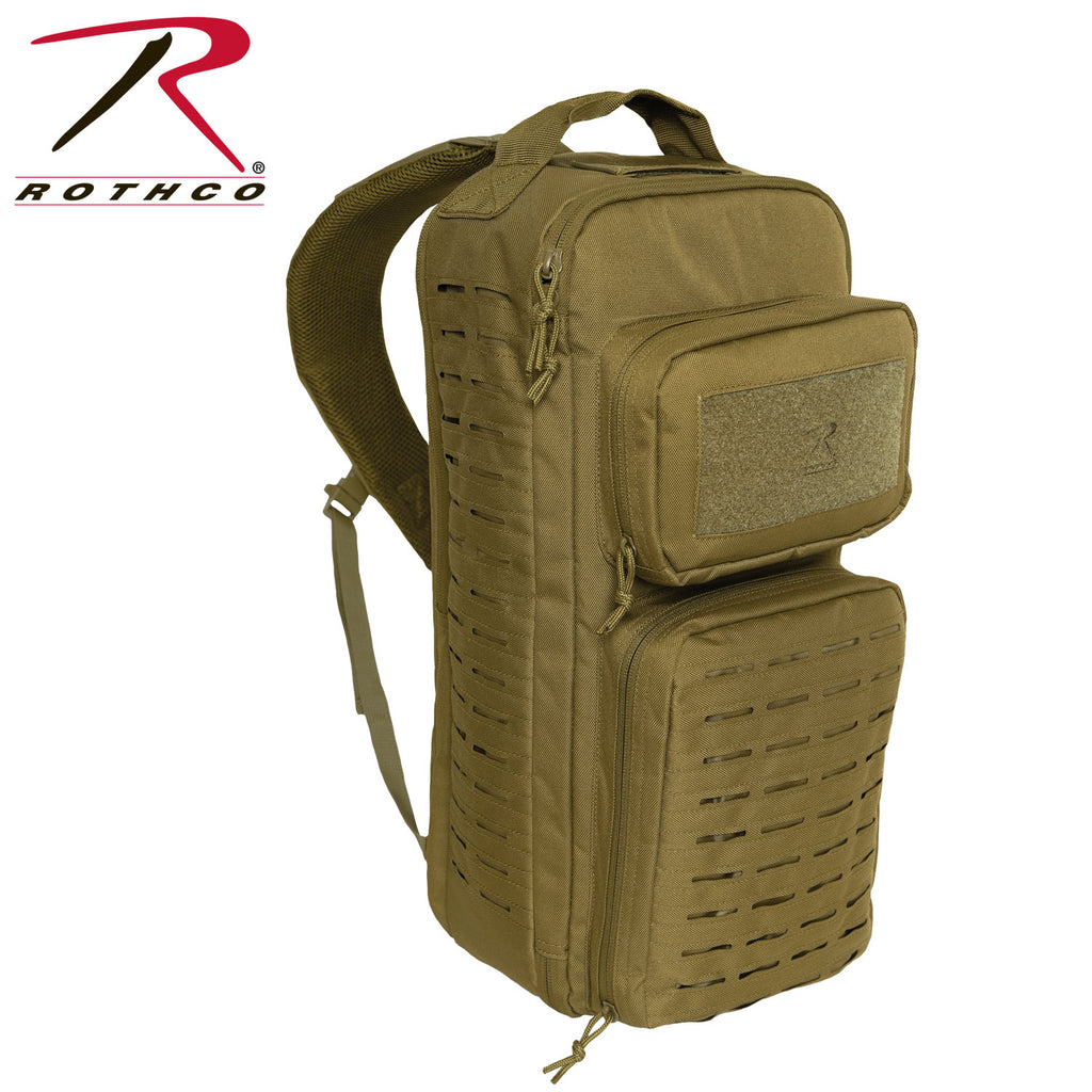 Rothco Tactical Single Sling Pack With Laser Cut MOLLE - Coyote Brown - Eminent Paintball And Airsoft