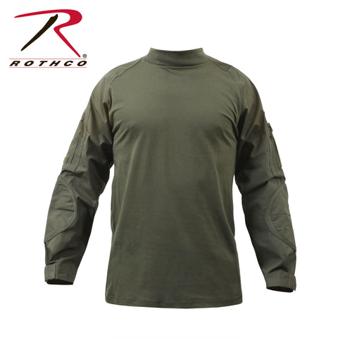 Rothco Military Combat Shirt- Olive Drab - Eminent Paintball And Airsoft