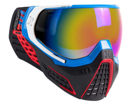 KLR Goggle RLGN (Blue/Red/White-Fusion Lens) - Eminent Paintball And Airsoft