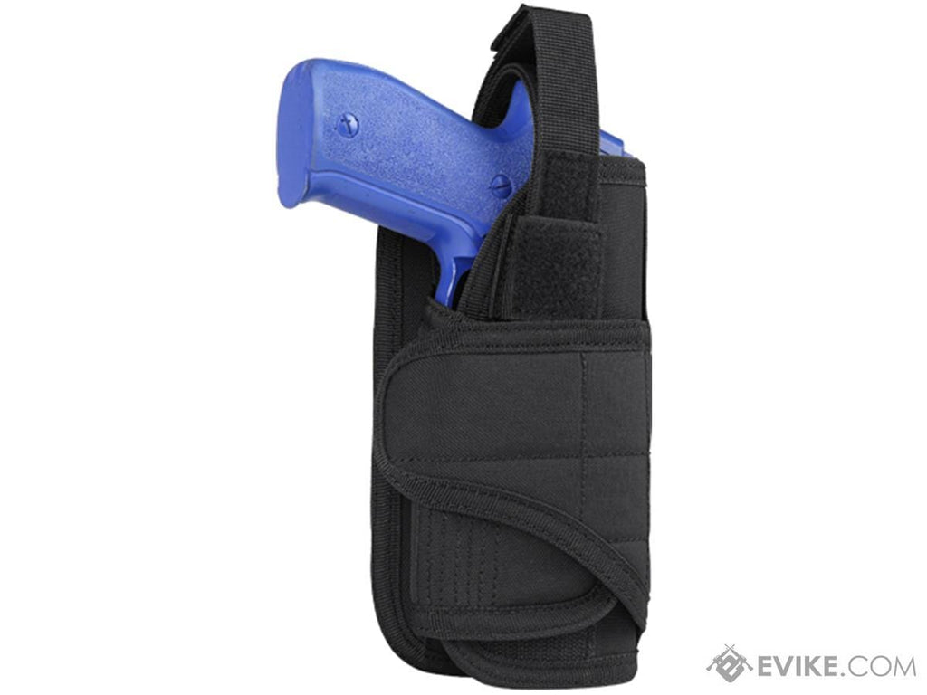 Condor Horizontal MOLLE Ready Holster (Color: Black) - Eminent Paintball And Airsoft