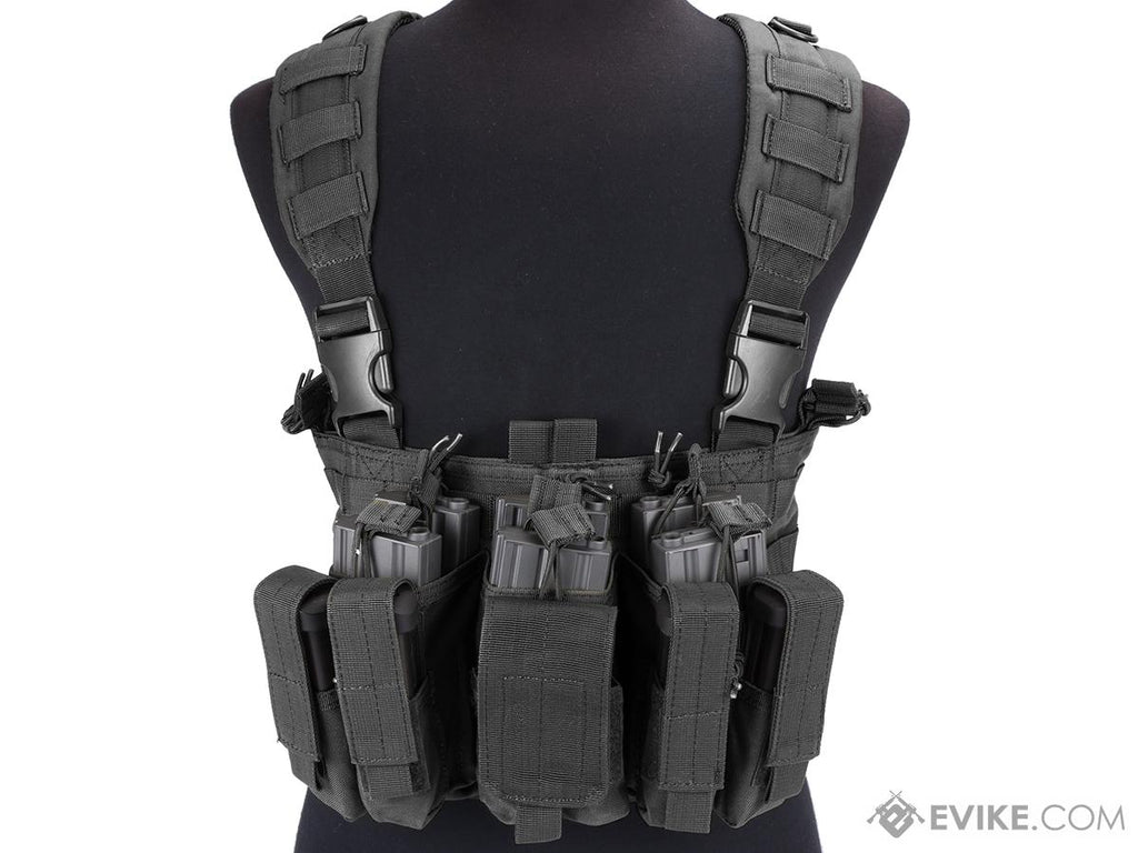 Condor Gen 5 Tactical MOLLE Recon Chest Rig (Color: Black) - Eminent Paintball And Airsoft