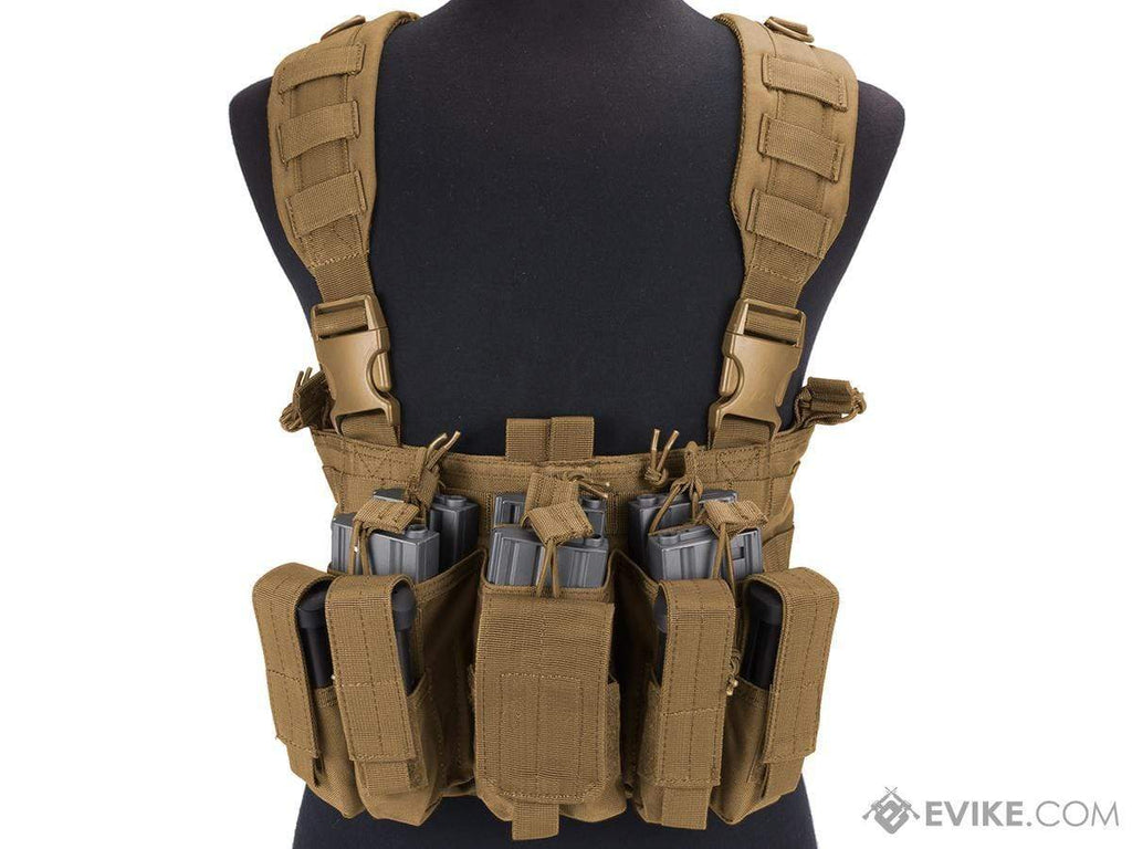 Condor Gen 5 Tactical MOLLE Recon Chest Rig (Color: Coyote) - Eminent Paintball And Airsoft