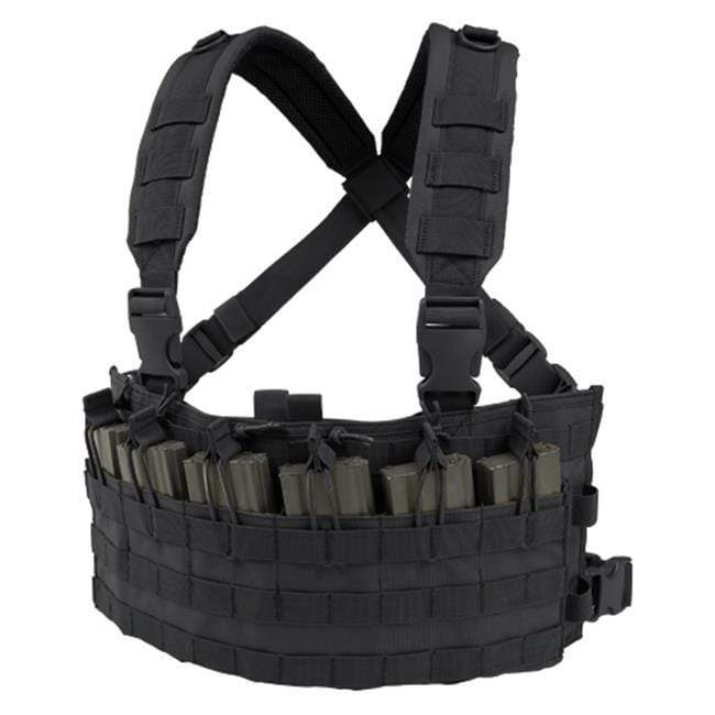 Condor Rapid Assault Chest Rig (Color: Black) - Eminent Paintball And Airsoft