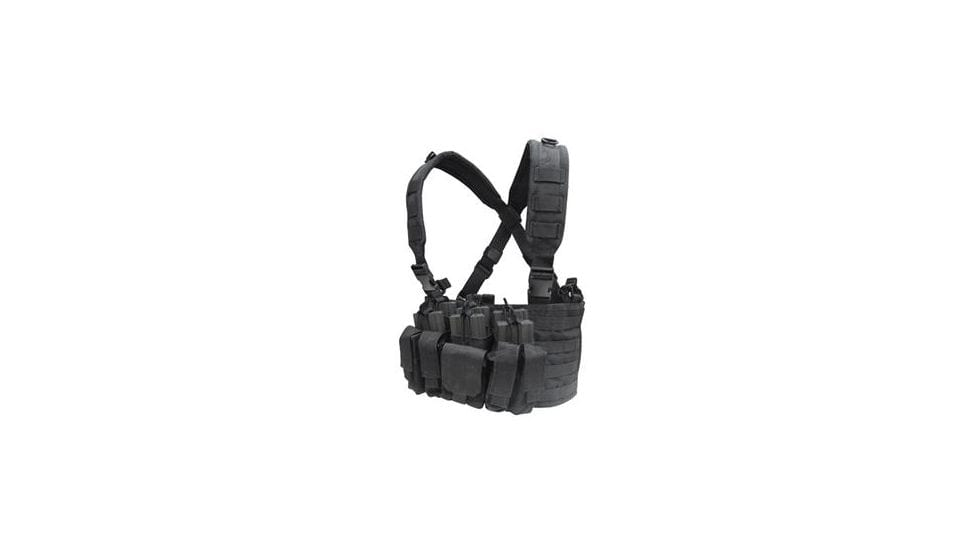 Condor Recon Chest Rig (Color: Black) - Eminent Paintball And Airsoft