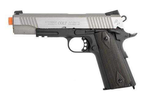 Colt Licensed 1911 Tactical Full Metal CO2 Airsoft Gas Blowback - Dual-Tone - Eminent Paintball And Airsoft