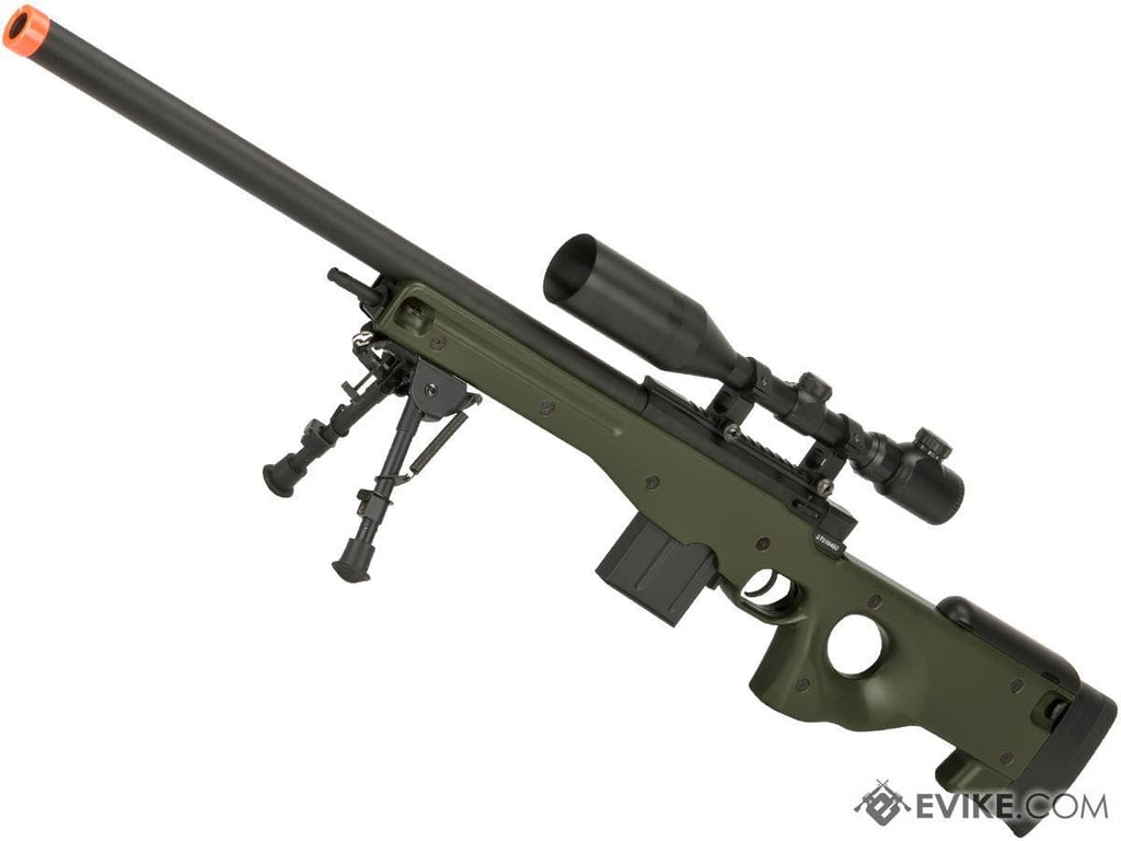 CYMA Advanced L96 Bolt Action High Power Airsoft Sniper Rifle (Color: OD Green) - Eminent Paintball And Airsoft