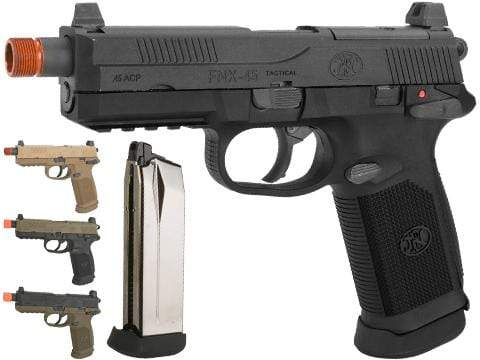 Fn Herstal Licensed Fnx 45 Tactical Airsoft Gas Blowback Pistol By Vfc Eminent Paintball And Airsoft