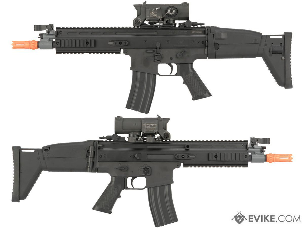 FN Herstal Licensed SCAR-L Airsoft AEG Rifle by Cybergun (Color: Black) - Eminent Paintball And Airsoft