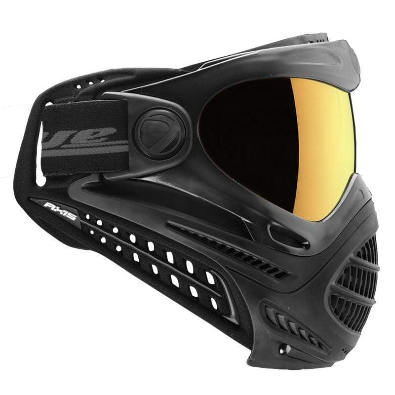 DYE Axis Pro Goggle - Black Fade Bronze - Eminent Paintball And Airsoft