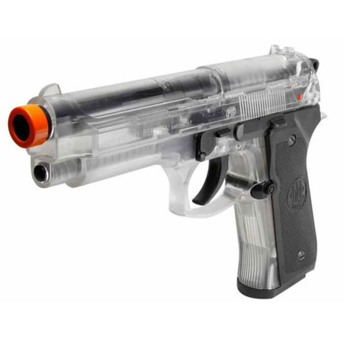 BERETTA 92FS SPRING AIRSOFT - CLEAR - Eminent Paintball And Airsoft
