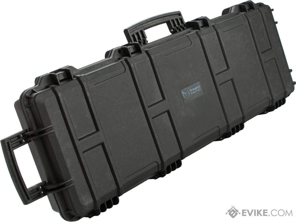 "EMG Transporter Lockable 42"" Hard Case w/ low-profile wheels & PnP foam (Color: Matte Black) - Eminent Paintball And Airsoft"